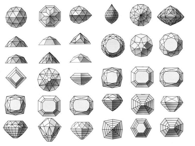 cutting gemstones graphic design illustration