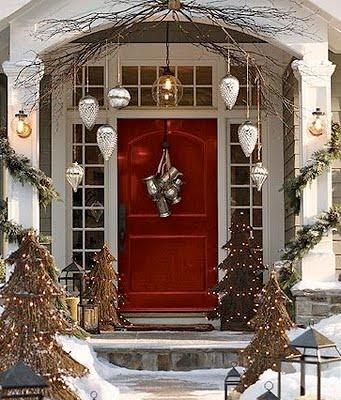 Entryway Christmas Decorating Ideas Pinterest