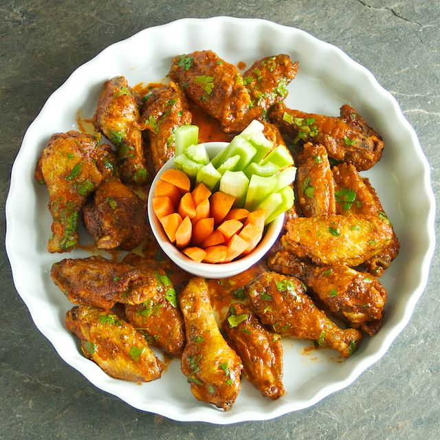 Spicy Sriracha Chicken Wings - Oui, Chef | Appetizers | Pinterest