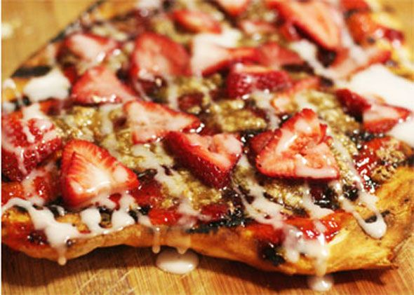 Strawberry dessert pizza | Yum | Pinterest
