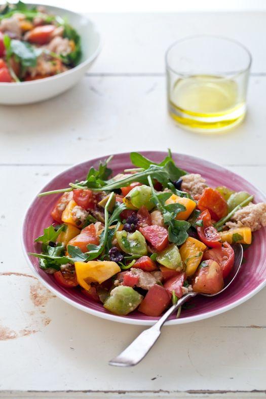 tartelette heirloom tomato tarts amp panzanella salad