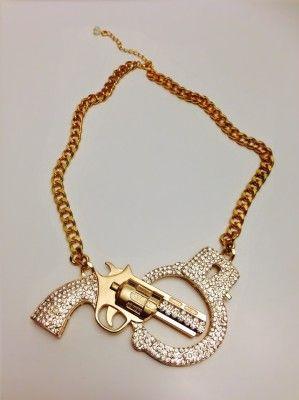 Gun & HandCuff Necklace