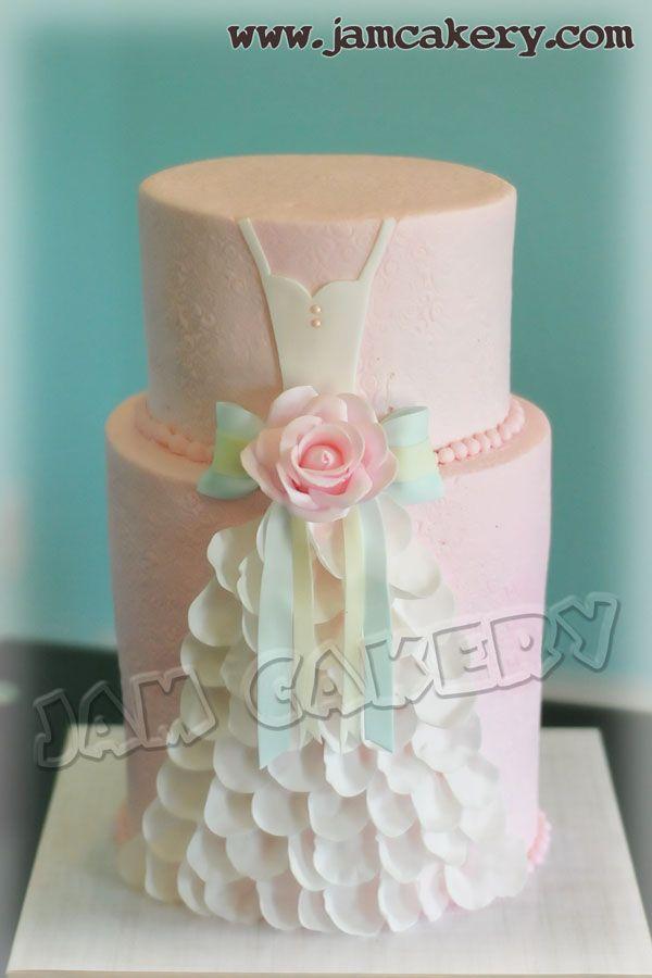 lovely dress cake