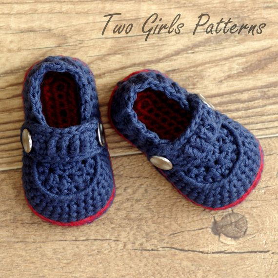 Crochet Patterns Baby Boy : Crochet Patterns - Baby Boy Booties