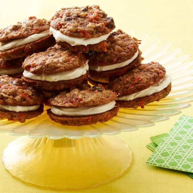 Carrot Cake Sandwich Cookies by Parade Magazine