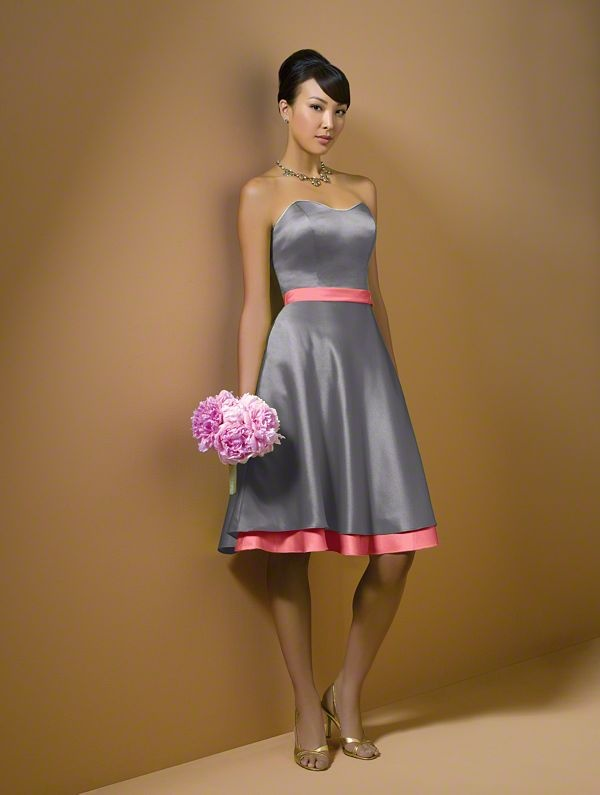 Silver pink bridesmaid 39 s dress wedding ideas pinterest for Silver and red wedding dresses