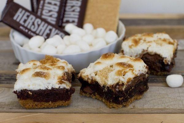 sugar free S'more brownies make brownies,put graham cracker on top of ...