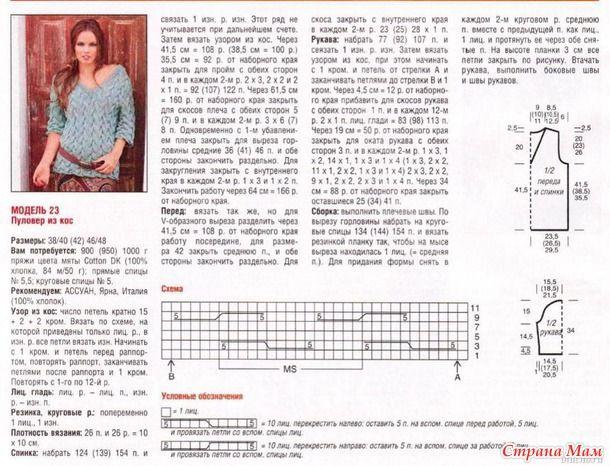 Схемы вязания с косами 70