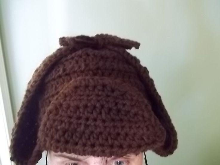 Crochet Deerstalker Hat Pattern : Pin by Stephanie B. on Crochet I made Pinterest