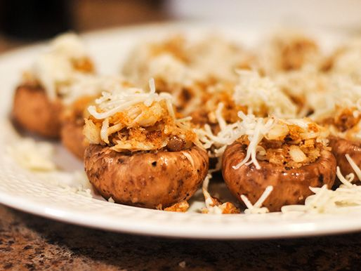 Grilled Crab and Fontina Stuffed Mushrooms | Serious Eats : Recipes