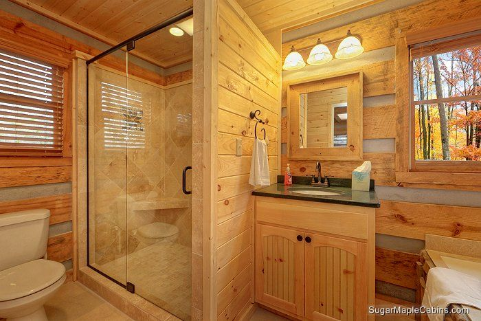 Pin by carol calloway haney on bathroom pinterest for Bath cabin