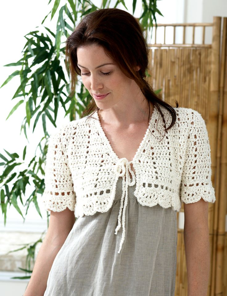 Crochet Bolero Pattern : Crochet Bolero: free easy level pattern Crochet Shrugs / Tops etc ...