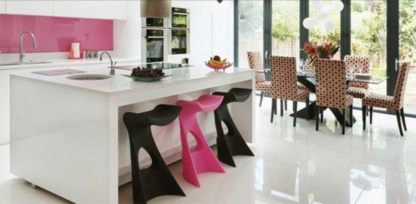 White and Pink Kitchen Ideas Design  Kitchen  Pinterest