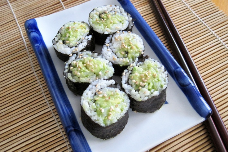 Vegetable Sushi | Vegetarian Cooking | Pinterest
