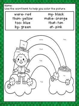 Color Me Lucky 12 Coloring Sheets With Addition And Sight