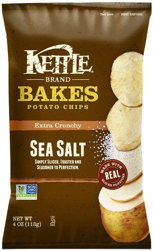 Kettle Baked Potato Chips, Sea Salt, 4-Ounce Bags (Pack of 15) - http ...