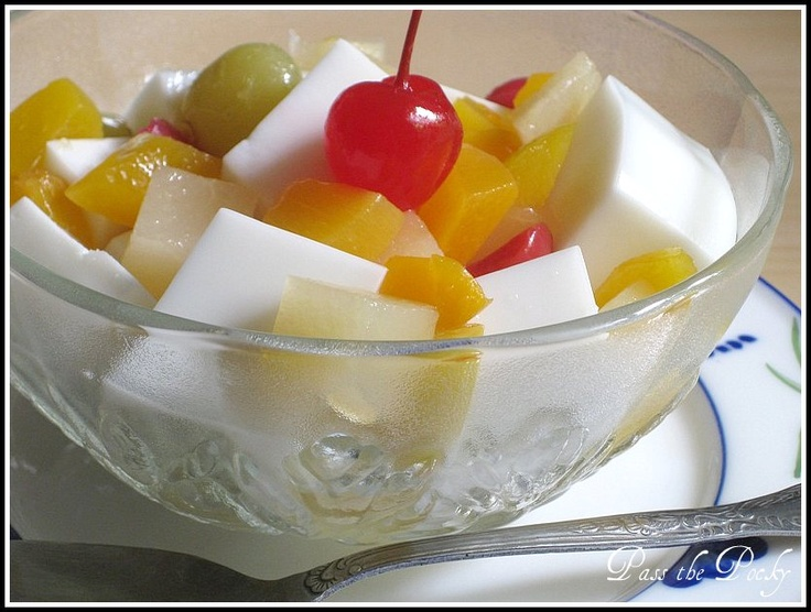 Link to Amy's Recipe for Almond Jello: http://allaboutbabyg.blogspot ...