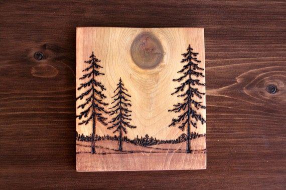 Поделки из дерева с выжиганием 58