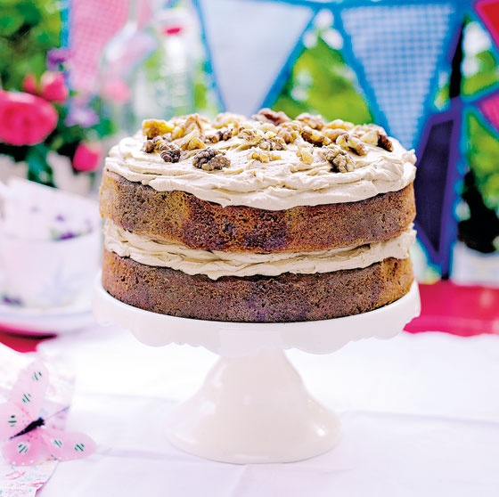 Syrup-soaked coffee and walnut cake from Stacie Bakes by Stacie ...