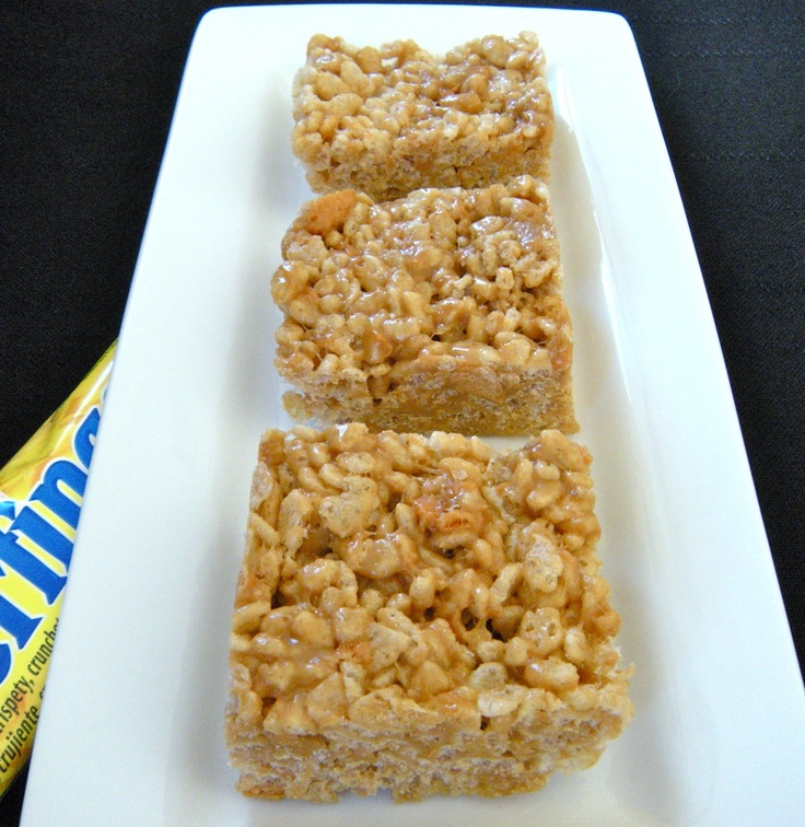 Butterfinger Rice Krispie Treats | Recipes Sweets | Pinterest