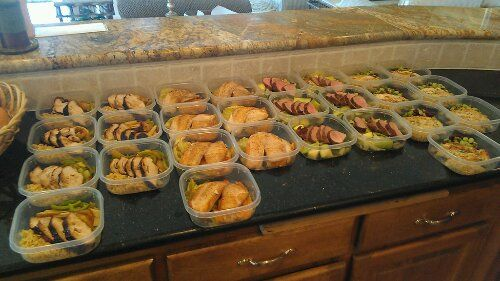 Weekly meal prep for four here is an example of one week for Chef comes to your house
