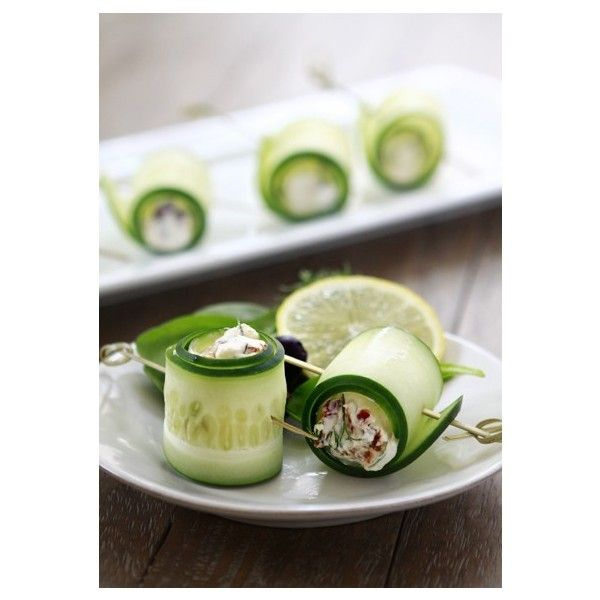 Cucumber Feta Rolls liked on Polyvore | my polyvore activity ...