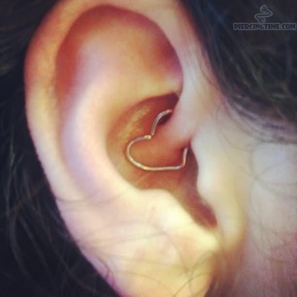 daith heart piercing tattoo and piercing pinterest