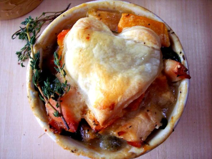 "Individual "" Lighter"" Chicken Pot Pies with butternut squash and ..."