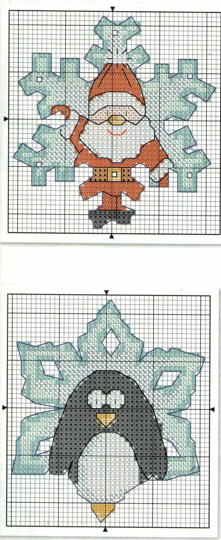 Новогодние схемы для вышивки крестиком 82