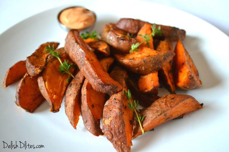 Cajun Spiced Sweet Potato Wedges - delish, no fresh thyme so I used ...