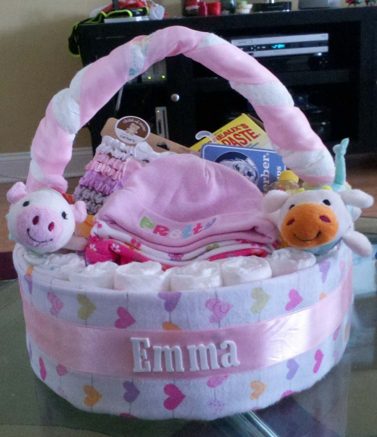 Baby Gift Basket Diapers : Diaper basket stinkin cute baby