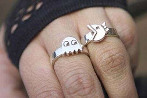 Pacman Wedding And Engagement Rings