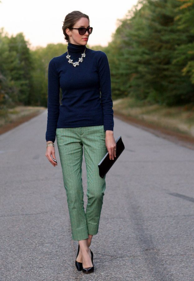 Statement Necklace and Turtleneck