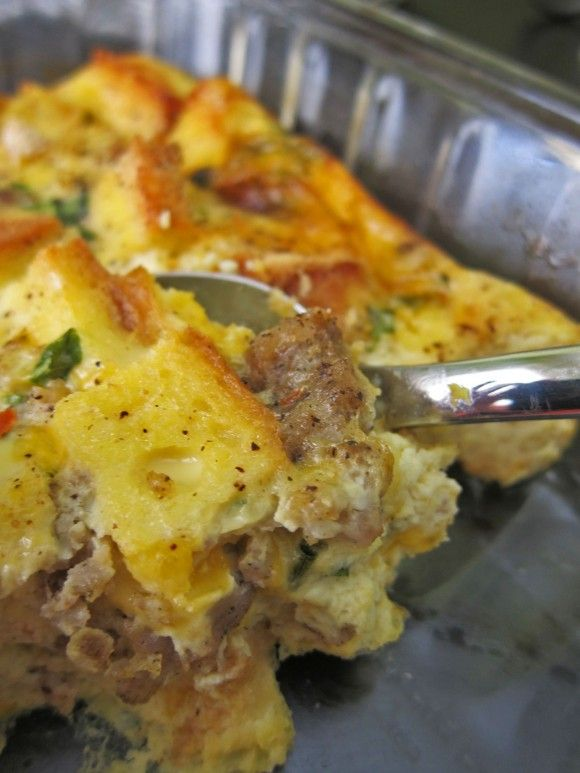 Spicy Sausage & Egg Breakfast Casserole | I did this! | Pinterest