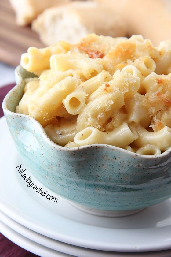 Four Cheese Macaroni and Cheese Recipe from bakedbyrachel.com @Rachel ...