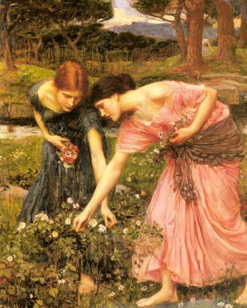 John William Waterhouse- Gathering Flowers