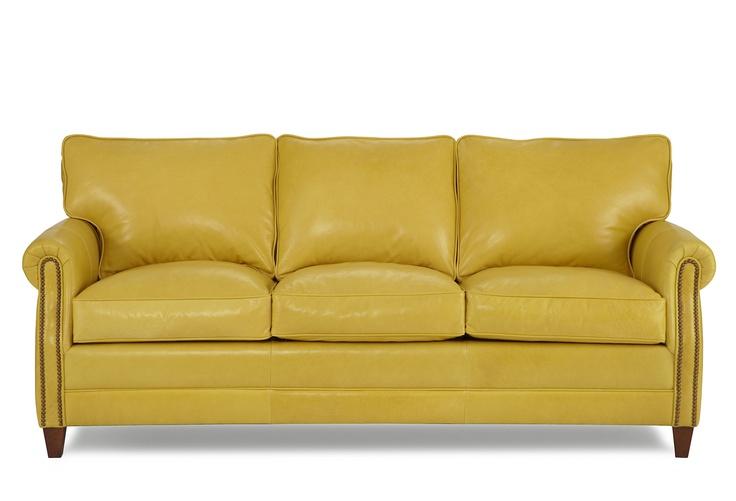 Sundance 83 Leather Sofa Yellow