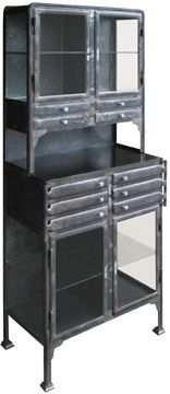 my favorite!!!  dental cabinet, german, circa 1915 from installations antiques (houston, tx)