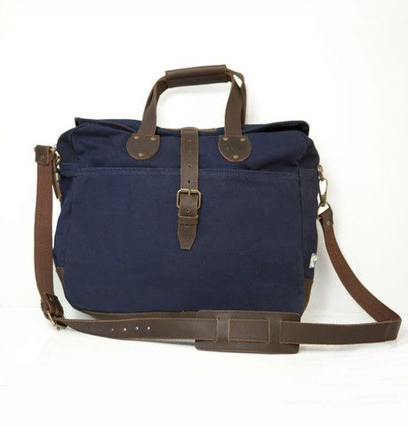 Navy Blue Lakeland Laptop Bag by United by Blue