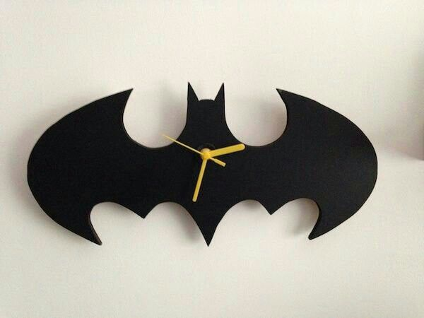Batman Wall Light Diy : Batman DIY wall clock - Cool Jess Mallard :) Pinterest