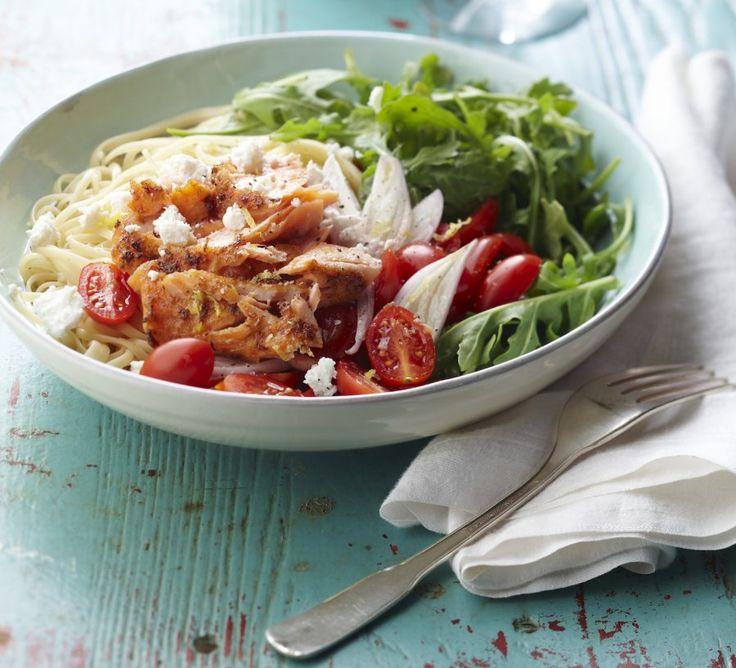 Warm Salmon And Arugula Pasta Salad | Food! | Pinterest