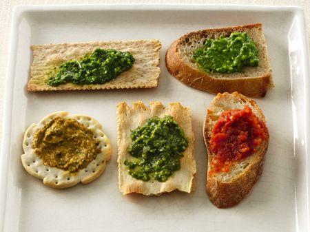 ... Pesto 3. Cilantro Pesto 4. Basil, Roasted Red Pepper and Walnut Pesto