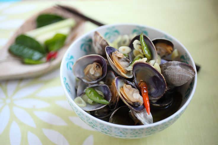 Thai-Style Steamed Clams | Seafood | Pinterest