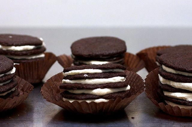 homemade chocolate wafers + icebox cupcakes