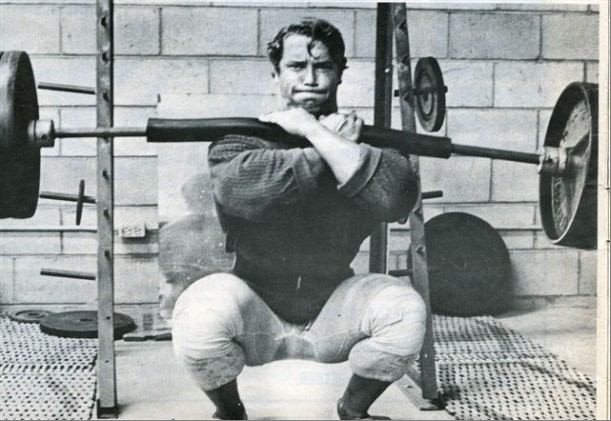 Arnold Schwarzenegger - Front Squats | My Style | Pinterest