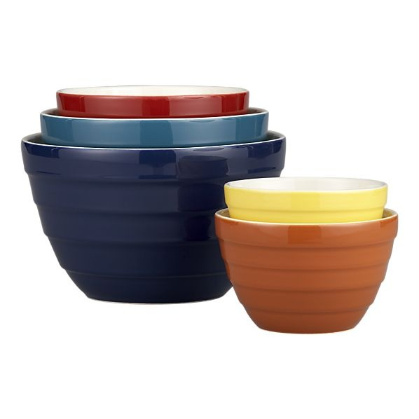 Like the colors of these bowls.  Crate and Barrel  $24.95 on sale.