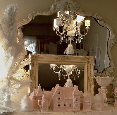 Shabby chic christmas decor holiday fun pinterest for Shabby chic christmas
