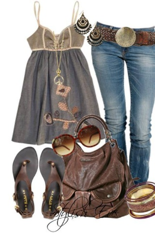 Gray summer night outfit