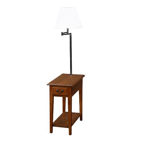 end table with lamp attached for the home pinterest. Black Bedroom Furniture Sets. Home Design Ideas