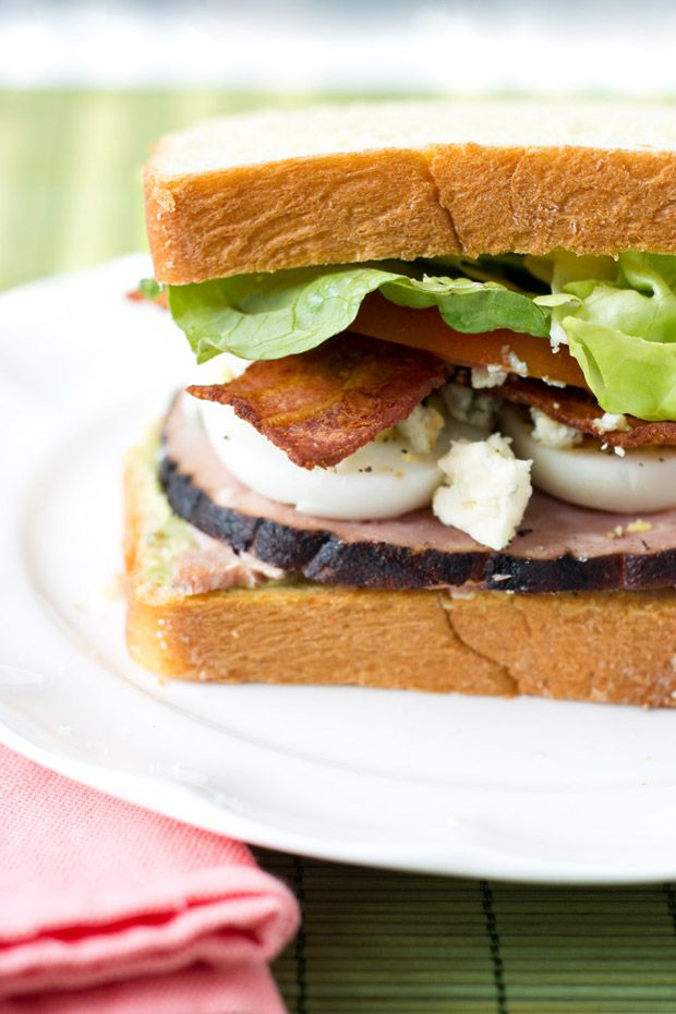 Cobb Salad Sandwich with Avocado Spread | eat, drink, and be merry ...
